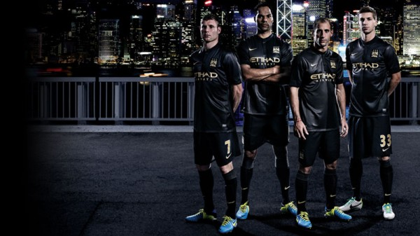 manchester city away shirt 600x337 Manchester City Away Shirt For 2013 14 Season Confirmed: Official [PHOTOS]