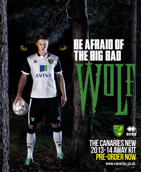 norwich city away shirt 600x730 Norwich City Away Shirt for 2013 14 Season: Official [PHOTOS]