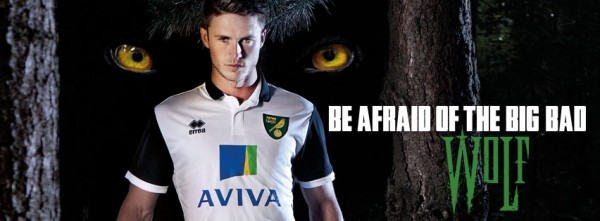 norwich city away shirt cover photo 600x221 Norwich City Away Shirt for 2013 14 Season: Official [PHOTOS]