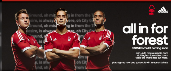 nottingham forest home shirt group alt 600x250 Nottingham Forest Home Shirt for 2013 14 Season: Official [PHOTOS]