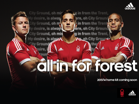 nottingham forest home shirt group Nottingham Forest Home Shirt for 2013 14 Season: Official [PHOTOS]