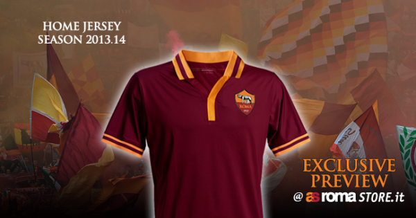 roma home shirt 600x315 AS Romas Home Shirt for Next Season Will Be Produced By Themselves