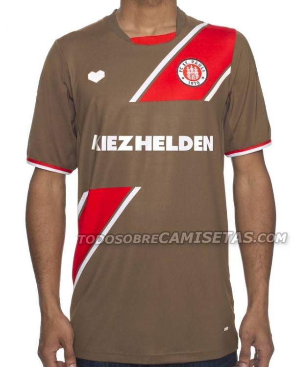 st pauli home shirt 600x750 St Pauli Home, Away and Third Shirts for 2013 14 Season: Leaked [PHOTOS]