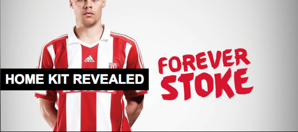 stoke city home shirt shawcross 600x267 Stoke City Home Shirt for 2013 14 Season: Official [PHOTOS]