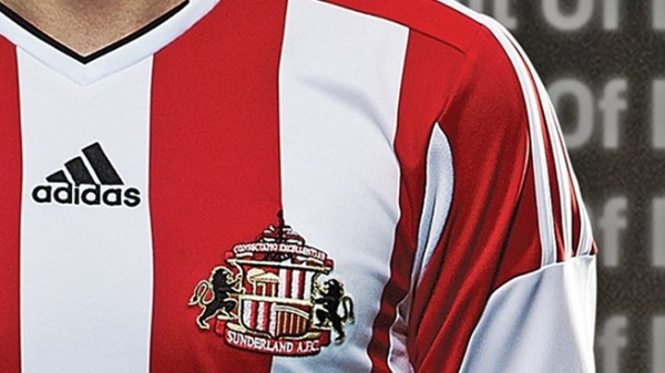 sunderland home shirt closeup 600x337 Sunderland Home Shirt for 2013 14 Season: Official [PHOTOS]