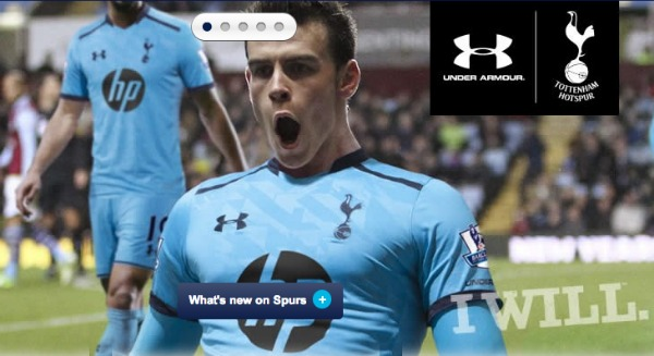 tottenham away shirt Tottenham Hotspur Home and Away Shirts for the 2013 14 Season: Official [PHOTOS]