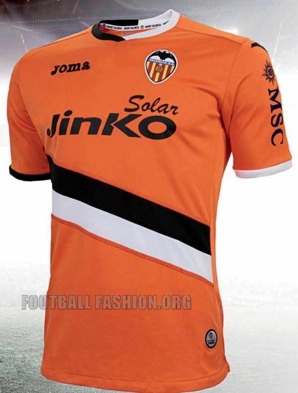 valencia away shirt front 600x791 Valencia Home and Away Shirts for 2013 14 Season [PHOTOS]