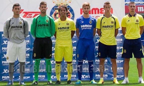 villarreal home away shirts Villarreal Home and Away Shirts for 2013 14 Season: [PHOTOS] & [VIDEO]