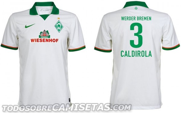 werder bremen away shirt 600x375 Werder Bremen Home, Away and Third Shirts for 2013 14 Season [PHOTOS]