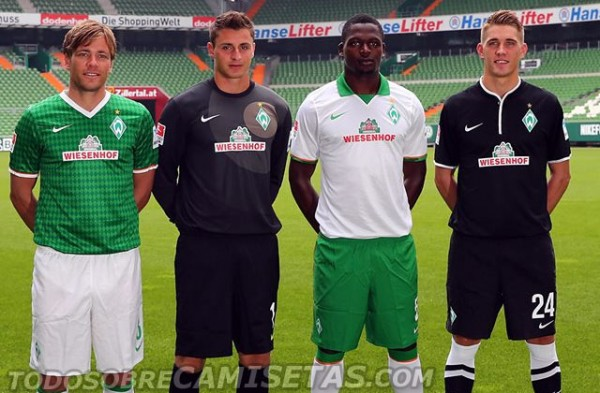 werder bremen away third shirts 600x393 Werder Bremen Home, Away and Third Shirts for 2013 14 Season [PHOTOS]
