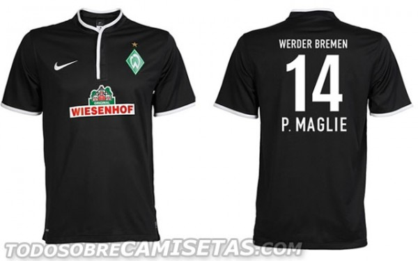 werder bremen third shirt 600x375 Werder Bremen Home, Away and Third Shirts for 2013 14 Season [PHOTOS]