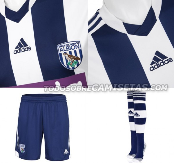 west brom home shirt detail 600x562 West Bromwich Albion Home Shirt for 2013 14 Season [PHOTOS]