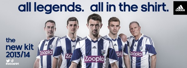 west brom home shirt group 600x218 West Bromwich Albion Home Shirt for 2013 14 Season [PHOTOS]