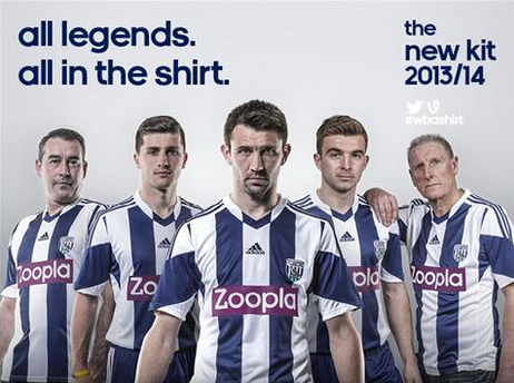 west brom home shirt group new West Bromwich Albion Home Shirt for 2013 14 Season [PHOTOS]