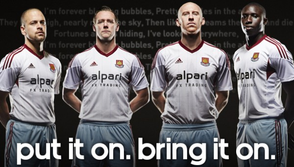 West Ham United Away Shirt for 2013 14 Season: Official [PHOTOS]