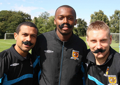 Hull City's Andy Dawson (right).
