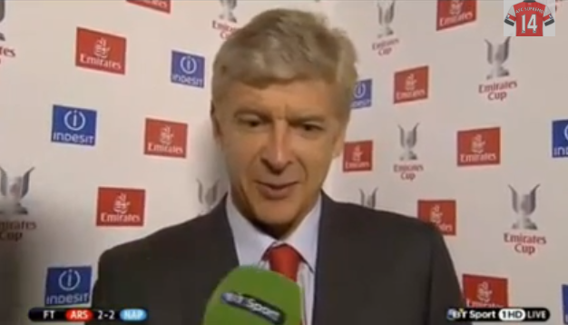 arsene wenger press interview Arsene Wenger Dances Around Questions About Lack of Transfer Signings [VIDEO]