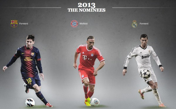 best player in europe nominees 600x372 Franck Ribery Wins UEFA Best Player in Europe Award
