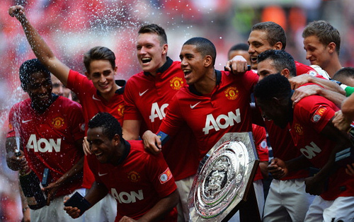 community shield man united 2013 FA Community Shield: Manchester United 2 0 Wigan Athletic Match Highlights [VIDEO]