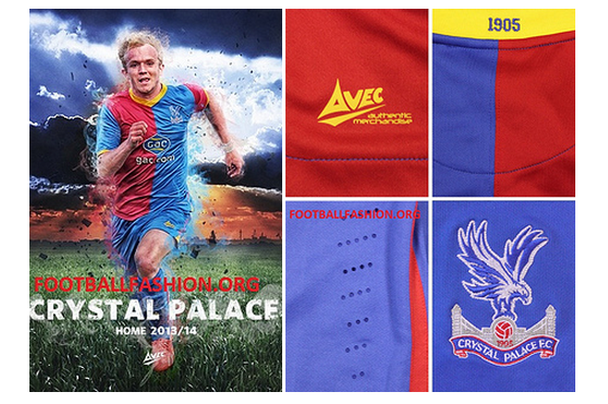 crystal palace home shirt Crystal Palace Home and Away Shirts for the 2013 14 Season [PHOTOS]
