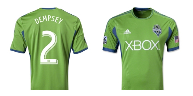 dempsey seattle shirt home1 Order Your Own Clint Dempsey Seattle Sounders Shirt: Home & Away