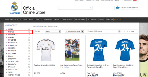 gareth bale real madrid store Real Madrid Begin Selling Gareth Bale Shirts On Official Club Online Store [PHOTO]