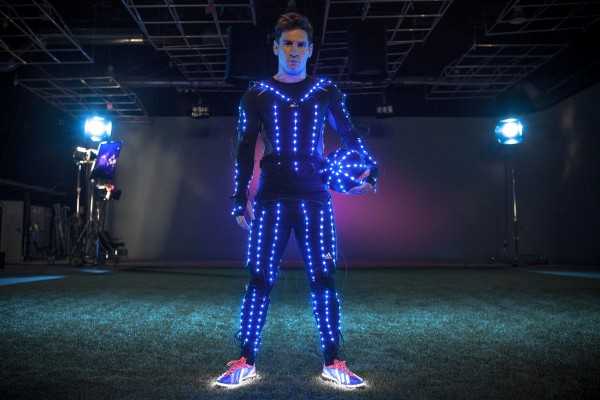 lionel messi light suit 600x400 Watch Leo Messi In The New Speed Of Light Film [VIDEO]