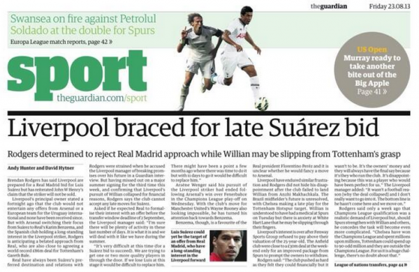 liverpool luis suarez real madrid 600x390 Liverpool Prepared to Resist Late Real Madrid Bid For Luis Suarez