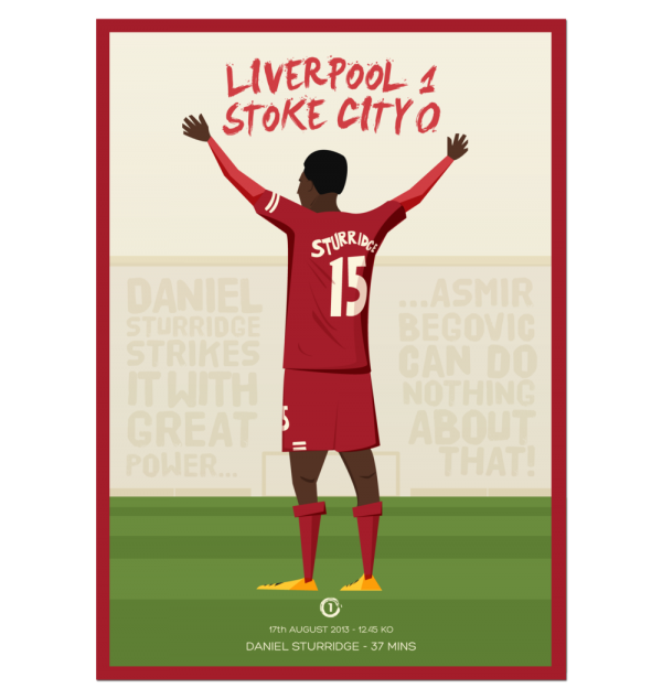 liverpool stoke postcard 600x634 Liverpool 1 0 Stoke City: Daniel Sturridge Illustration [PHOTO]