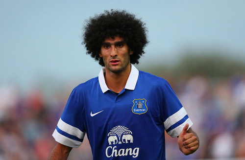 marouane fellaini Everton Manager Roberto Martinez Says Club Have Received No Bids for Fellaini or Baines