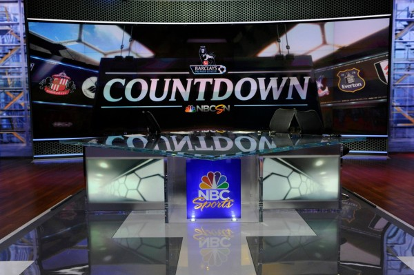 nbc premier league countdown 600x399 Behind the Scenes of NBCs Premier League Set [PHOTOS]