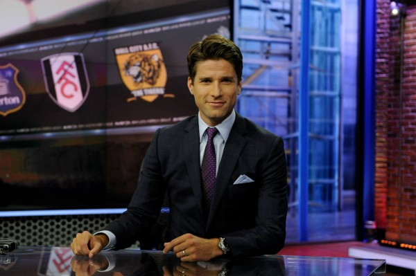 nbc premier league kyle martino 600x399 Behind the Scenes of NBCs Premier League Set [PHOTOS]
