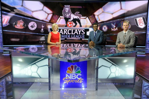 nbc premier league lowe earle mustoe 600x399 Behind the Scenes of NBCs Premier League Set [PHOTOS]