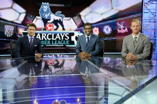 nbc premier league martino earle mustoe 600x399 Behind the Scenes of NBCs Premier League Set [PHOTOS]