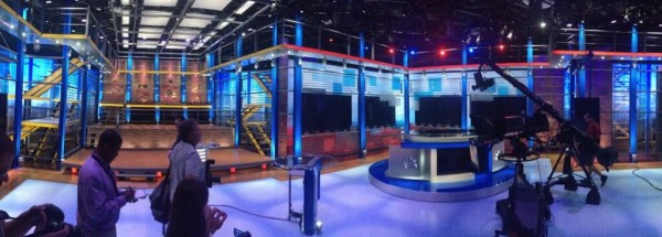 nbc studio 600x215 A Sneak Peek Inside NBCs New HQ For Their EPL Coverage [PHOTOS]