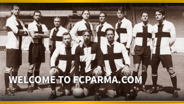 parma home shirt 600x339 Parma FC Unveil Home Shirt to Celebrate 100 Year Anniversary [PHOTOS]