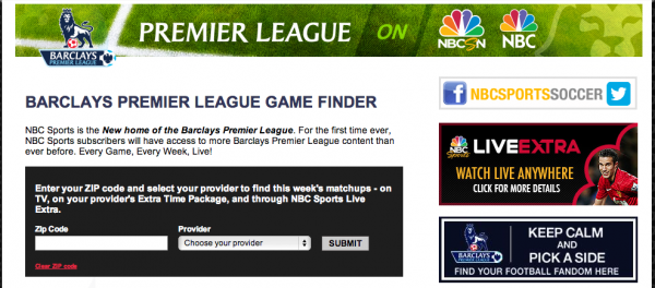 premier league game finder nbc 600x264 NBC Launches EPL Game Finder to Help Soccer Fans Find Their Games On TV