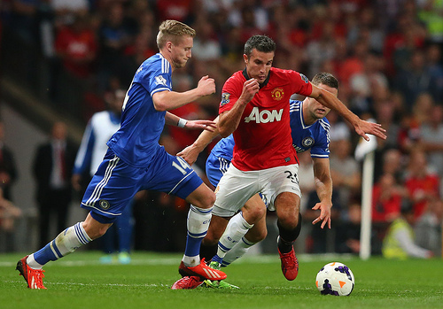 robin van persie Manchester United vs Chelsea Match Drew 536,000 Viewers On NBCSN