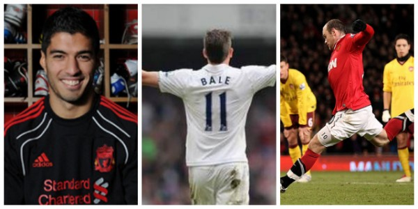 suarez bale rooney 600x300 Suarez, Rooney and Bale Suffering From Mystery Injury Outbreak in England