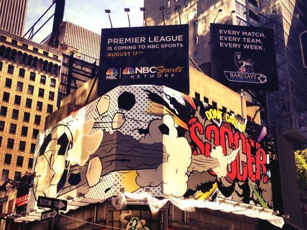 times square nbc billboard NBC Replaces Gareth Bale Times Square Billboard With Dont Call It Soccer Ad [PHOTO]