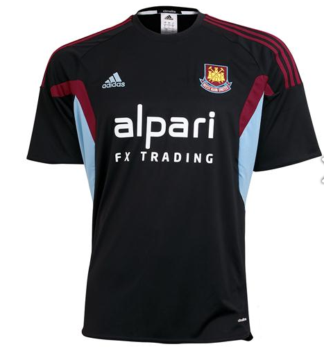 west ham third shirt front West Ham United Third Shirt for the 2013 14 Season [PHOTOS]