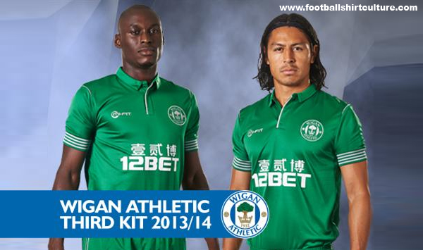 wigan athletic third shirt front Wigan Athletic Third Shirt for 2013 14 Season [PHOTOS]
