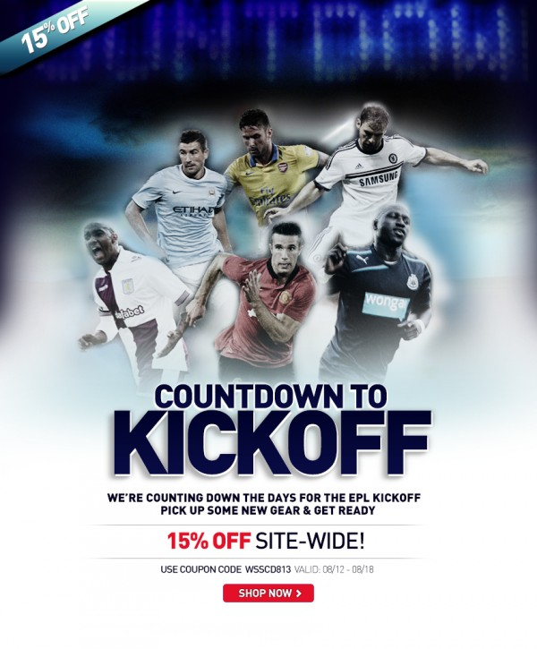 world soccer shop promo code 600x725 Get 15% Off Your Order of Premier League Shirts: This Weekend Only