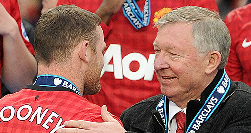 alex ferguson rooney Sir Alex Ferguson Attempts to Build Bridges With Wayne Rooney Praise [VIDEO]: Nightly Soccer Report