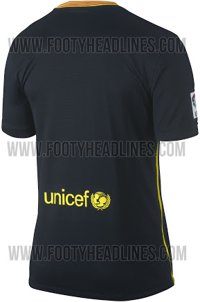barcelona third shirt back Barcelona Third Shirt for the 2013 14 Season: Leaked [PHOTOS]