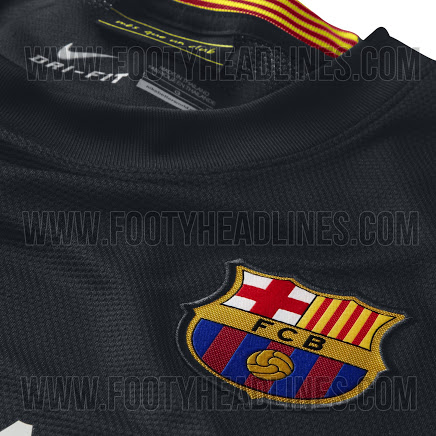 barcelona third shirt crest Barcelona Third Shirt for the 2013 14 Season: Leaked [PHOTOS]