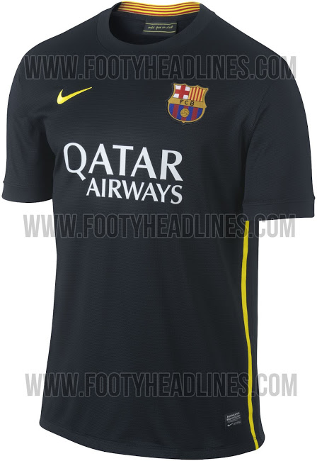 barcelona third shirt front Barcelona Third Shirt for the 2013 14 Season: Leaked [PHOTOS]