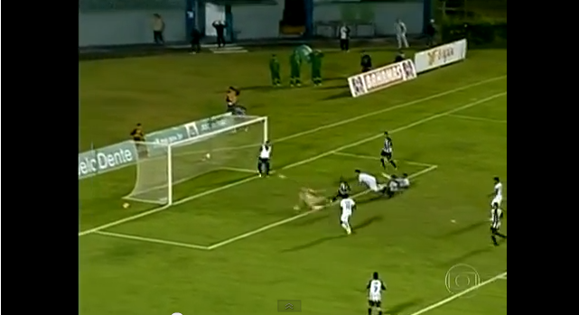 brazilian pitch invader Brazilian Pitch Invader Stops Certain Goal to Help His Team Advance: Incredible Must See [VIDEO]