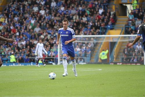 john terry John Terry Equalizes For Chelsea Against Tottenham Hotspur [GIF]