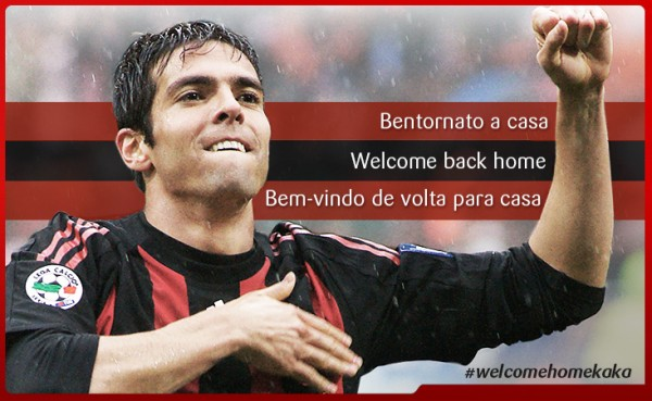 kaka ac milan 600x369 Kaka Receives a Heros Welcome On His Return to AC Milan [VIDEO]